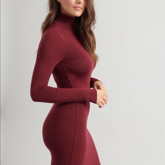 Bodycon Turtleneck Dress